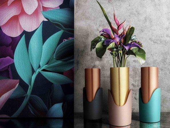 Concrete Vase Blue