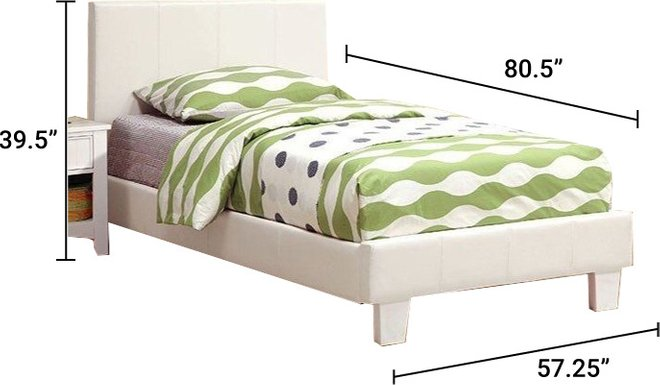 Winn Park Full Bed White