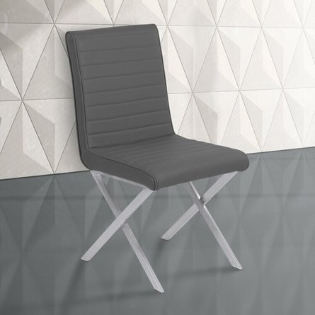 Wilfred Contemporary Dining Chair Gray