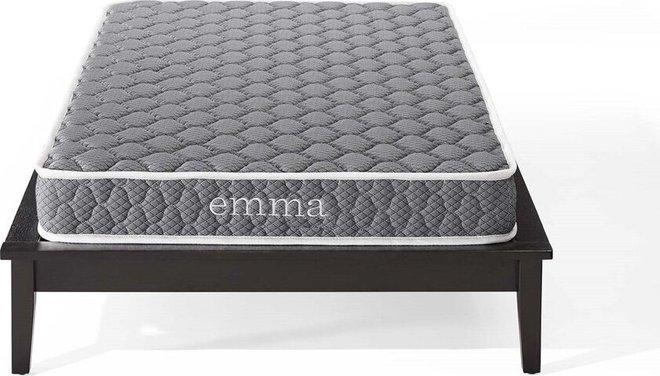 """Emma 6"""" Twin Mattress Gray & White"""