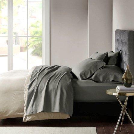800 Thread Count Cotton Rich Sateen 6 Piece Queen Sheet Set Gray
