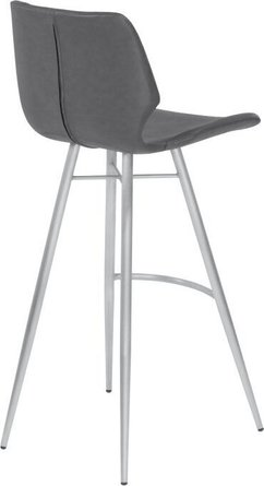 "Arthur 26"" Counter Height Metal Barstool Vintage Gray"