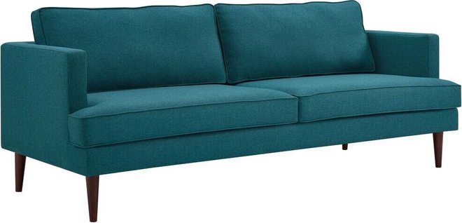 Agile Upholstered Fabric Sofa Teal