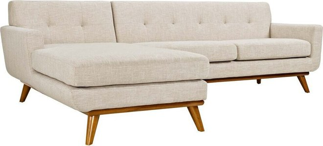 Engage Left-Extended Sectional Sofa Beige