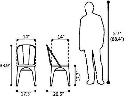 Elio Dining Chair Gunmetal (Set of 2)