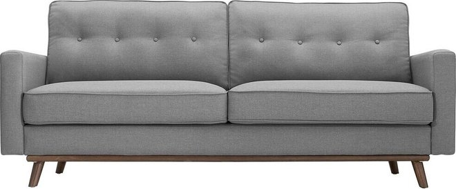 Prompt Upholstered Fabric Sofa Light Gray