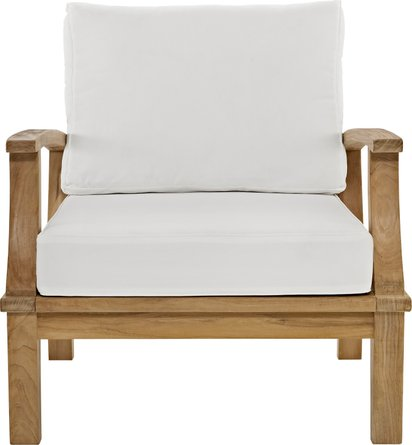 Marina Outdoor Armchair White & Natural