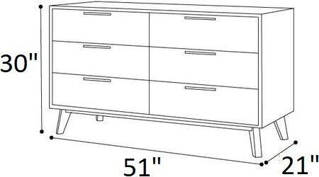 Soria Modern Gray Wash Dresser