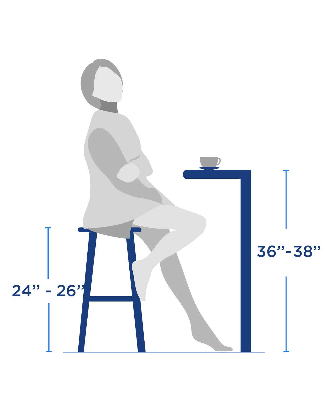 barstool ounter Height size size guide