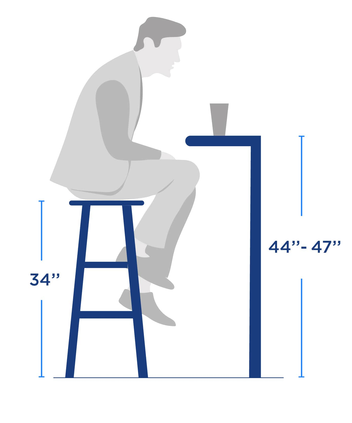 barstool Spectator Height size size guide